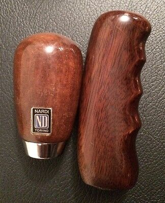 Mazda Mx5 Mx-5 Wood Nardi 6 Speed Gear Knob + Handbrake Cover Mk1 Mk2 Mk2.5