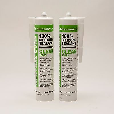RTV 100% Silicone Sealant Neutral Cure - CLEAR (12 Cartridges)