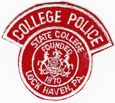 state College Vintage Police Security Guard Officer Patch Lock Haven Pa Penn