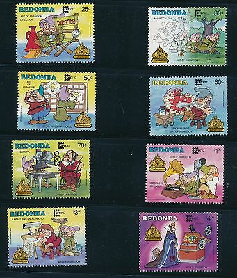 "1987 Redonda ""CAPEX '87"" DISNEY STAMPS, (8) PLUS 2 S/S;AS SHOWN; MNH"