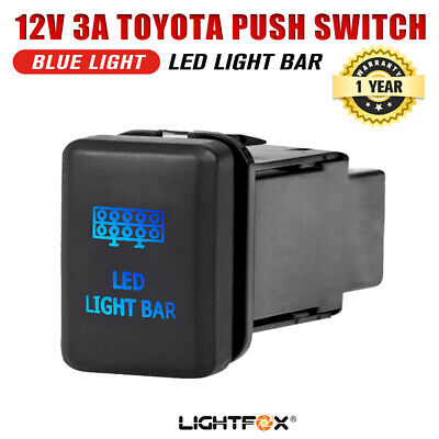 TOYOTA Push Switch LED Light Bar Car Prado Hilux Landcruiser