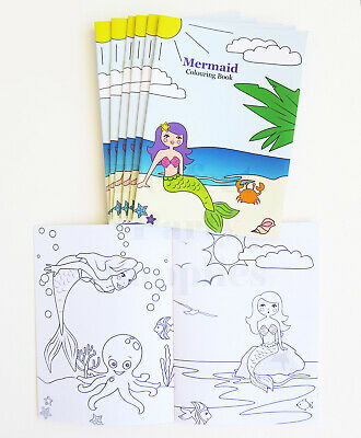 Mermaid Colouring Book 8 Pack Birthday Party Supplies Treat Favours