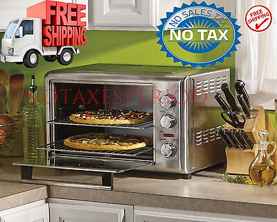 Commercial Stainless Oven Convection Toaster Broil Bake CounterTop Kitchen Pizza
