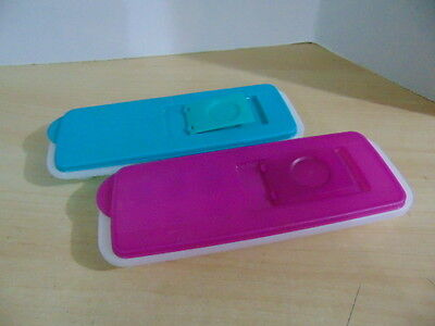 Tupperware Set 2 Ice Cube Trays With Lids Excellent