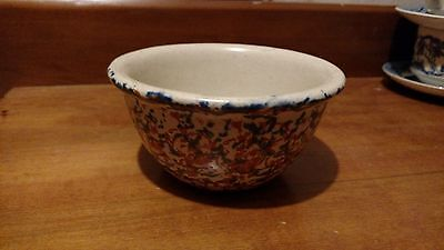 Western Stoneware 5 1/2 In Smooth Sided Sponge Ware Cap Bowl UnMarked Oven Ware