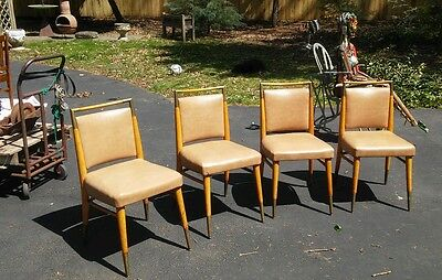 Set of 4 Mid Century Modern or Art Deco Chairs