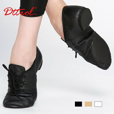 NEW Black Lace-Up JAZZ Shoes- Adult Size 8