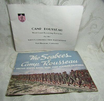 WWII The Seabees at Camp Rousseau Port Hueneme California Booklet