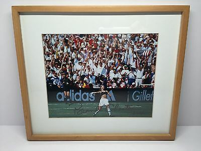 """Brandi Chastain Signed Autographed USA Soccer 9""""x 7.5"""" Photo 1999 WC Champs"""