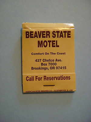 1990s Matches Matchbook ~*~ BEAVER STATE Motel ~ Brookings, OREGON ** CLOSED
