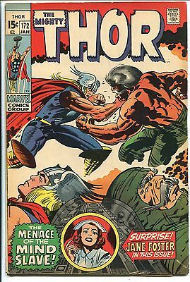 The Mighty Thor #172 Jane Foster Marvel 1970 Fn