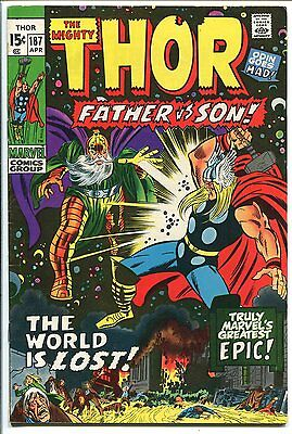 The Mighty Thor #187 Father Vs Son Marvel 1971 Fn+