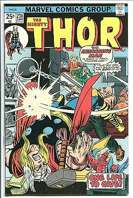 The Mighty Thor #236 Absorbing Man Marvel 1975 Fn+