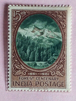110. India 1961 Stamp Forest Centenery . Mlh