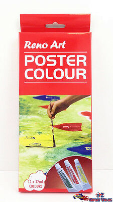 12 Tube 12ml Reno Art Poster Colour Paint Set Art Supplies Painting PC-1212S