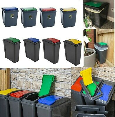 Recycle Bin 25L, 50L Plastic Waste bin Recycle dustbin Garden home office New
