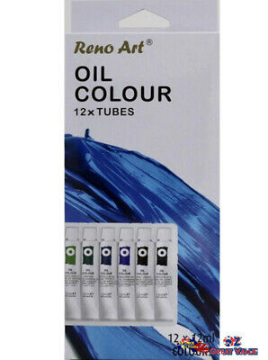 12 Tubes 12ml Reno Art Oil Colour Set Beginners & Professional Artists OC-1212S