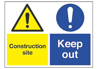Construction Site Keep Out Board A2 (594mmx420mm) on 5mm Foamex