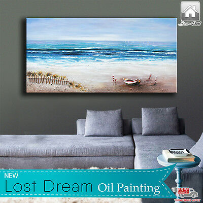 New Lost Dream Hand Drawn Oil Painting with Wooden Frame