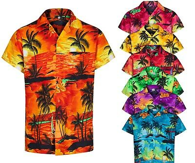Mens Hawaiian Shirt Aloha Themed Party Shirt Holiday Beach Fancy Dress Stag Do