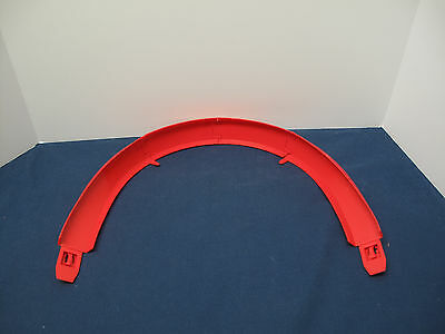 VINTAGE 1996 LOT MATTEL HOT WHEELS 180-degree CURVED red TRACK 4 PIECES 16483