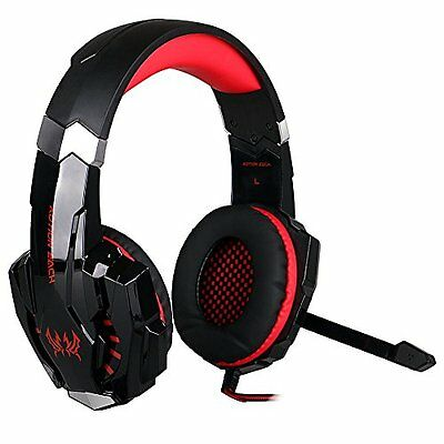 ***KOTION EACH G9000 3 5mm Cuffie Gamer Auricolare Con Mic Luce LED Per IPhon...