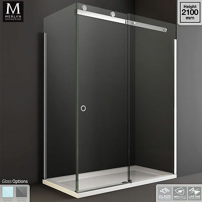 Merlyn 10 Series Sliding Shower Enclosure Door with Optional Side Panel & Tray
