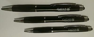 Qatar Airlines Pen & Stylus Set of 3 NEW