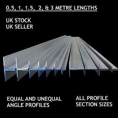 ALUMINIUM EXTRUDED ANGLE -Various Sizes  50 x 25 x 2mm 0.5m-3.0m LONG