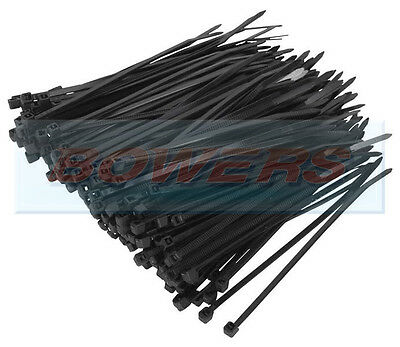 PACK OF 100 BLACK NYLON PA66 UL APPROVED 100mm x 2.5mm CABLE TIES 8KG STRENGTH
