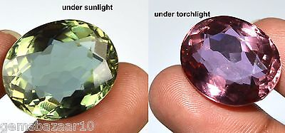 37.15 Ct. Ebay Certified Oval Color Changing Alexandrite Gemstone-HOLIDAY SALE