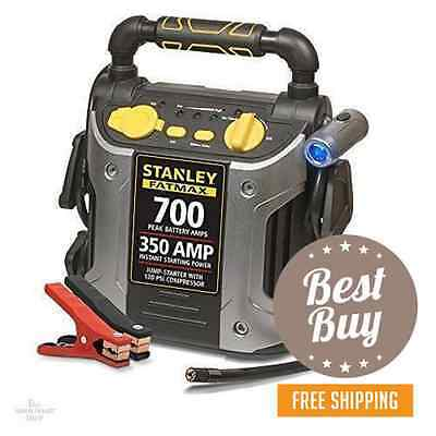 Battery Jump Box Portable Starter Air Compressor 350 Amp Charger Booster Car