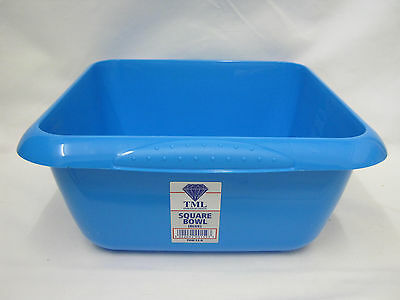New TML Square Plastic Washing Up Bowl Sky Blue 7 Ltr 29cm 11 1/2""