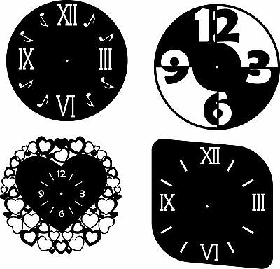 DXF CDR and EPS File For CNC Plasma or Laser Cut - Clock lot