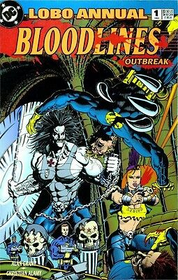lobo annual #1  bloodlines outbreak  dc comics 1993   FREE SHIPPING