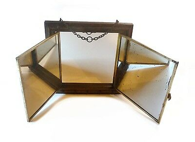 Miroir barbier 3 volets Faux bambou Trifold Barber Mirror Faux Bamboo Mirror1900