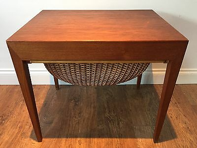 DANISH VINTAGE TABLE/SEWING/KNITTING TABLE 1960s TEAK MADE BY SEVRIN HANSEN
