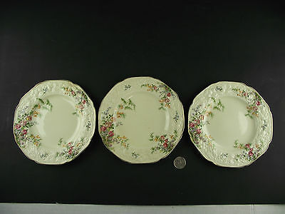 "3 Crown Ducal Florentine 6 "" Plates"