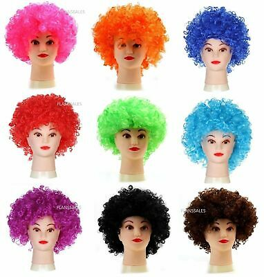 AFRO WIG  MULTI COLOUR 80s CURLY PARTY CLOWN FUNKY DISCO KIDS CHILDS .