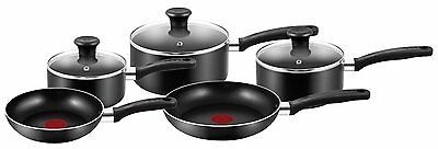 Tefal A157S546 Essential Cookware Set - Black, 5 Pieces