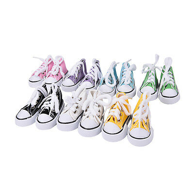 7.5cm Canvas Shoes BJD Doll Toy Mini Doll Shoes for 16 Inch Sharon doll BootsTop