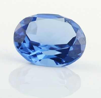 AAA Rated Oval Faceted Light Blue Lab Created Aquamarine (5x3mm to 14x12mm)