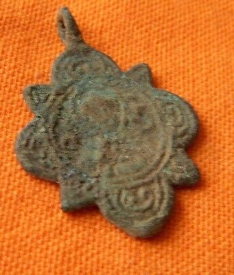 A433. Byzantine style bronze double faced  cross.