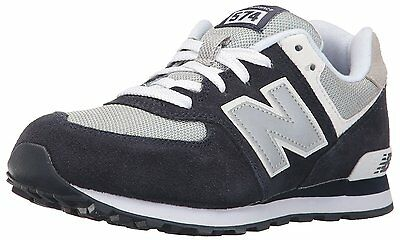 New Balance KL574NWG: Classics Suede Nylon Running Shoes Navy Gray Youth