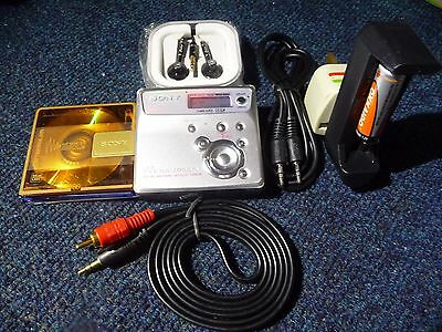 Sony Net MD MZ-N505 Personal MiniDisc Recorder & Extras