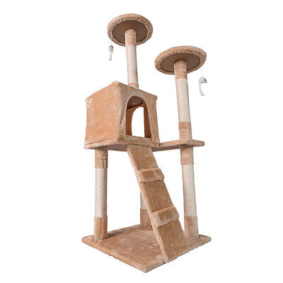 "Cat Tree House Furniture Condo 52"" Pet Play Tower Scratching Post for Cats"