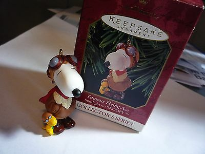 Hallmark Peanuts Snoop Ornament Snoopy Famous Flying Ace Collectors Series
