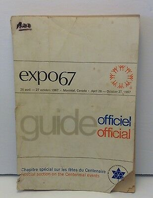 Expo 67 Official Guide Book Montreal Souvenir Worlds Fair English French