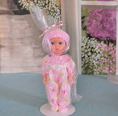 """Vintage 10"""" baby doll The Gerber Baby 1972 Doll Blue Eyes Drink/Wet Gift bag"""