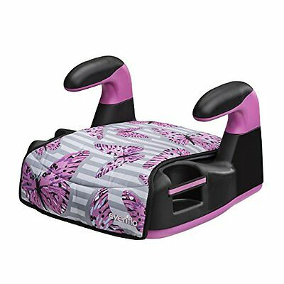 Backless Booster Car Seat Butterfly Cup Holder Carseat Safe Safety Chair Kids Ne
